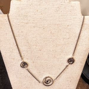 Silpada Sterling Silver Swirl necklace